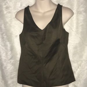 W by Worth New York Olive Green Tie Back Tank Top